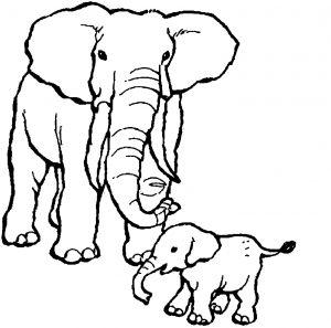 Coloriage enfant elephant 1