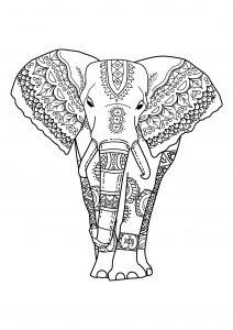 Coloriage d'éléphant à télécharger
