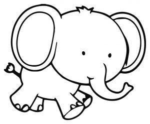 Coloriage d'éléphant à imprimer