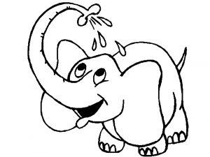 Coloriage enfant elephant 4