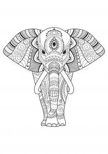 Joli éléphant décoré