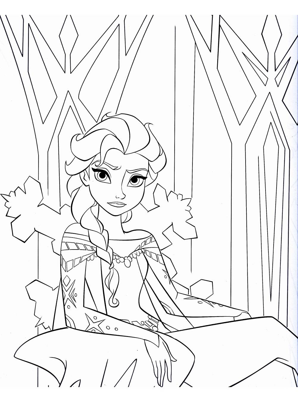 Coloriage de Elsa La reine des neiges à telecharger ...