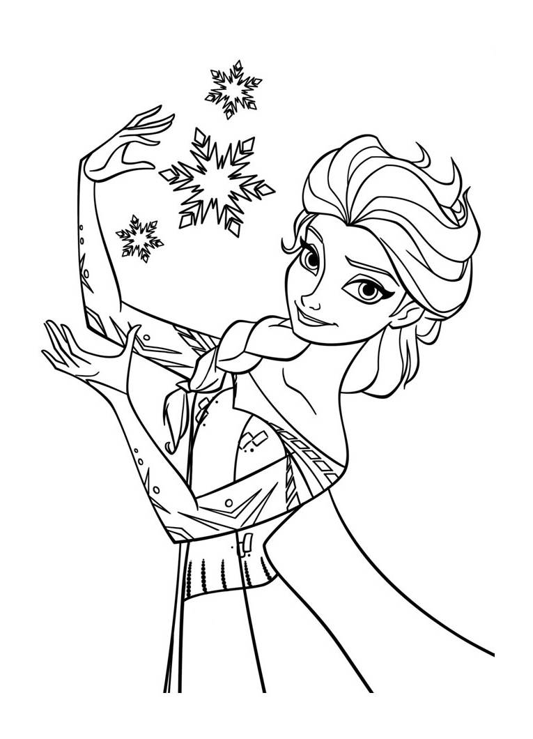 Coloriage elsa la reine des neiges coloriages pour - Coloriage reine ...