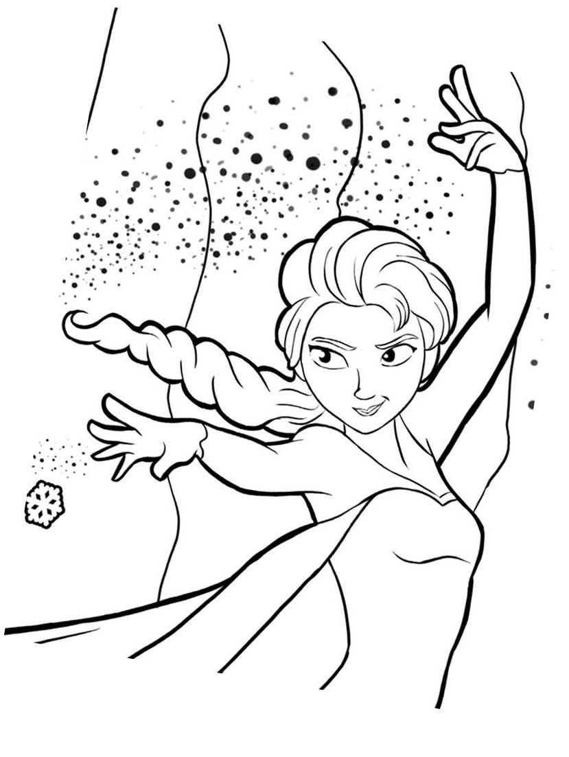 La reine des neiges elsa 4 - Coloriage Elsa (La reine des neiges) - Coloriages pour enfants