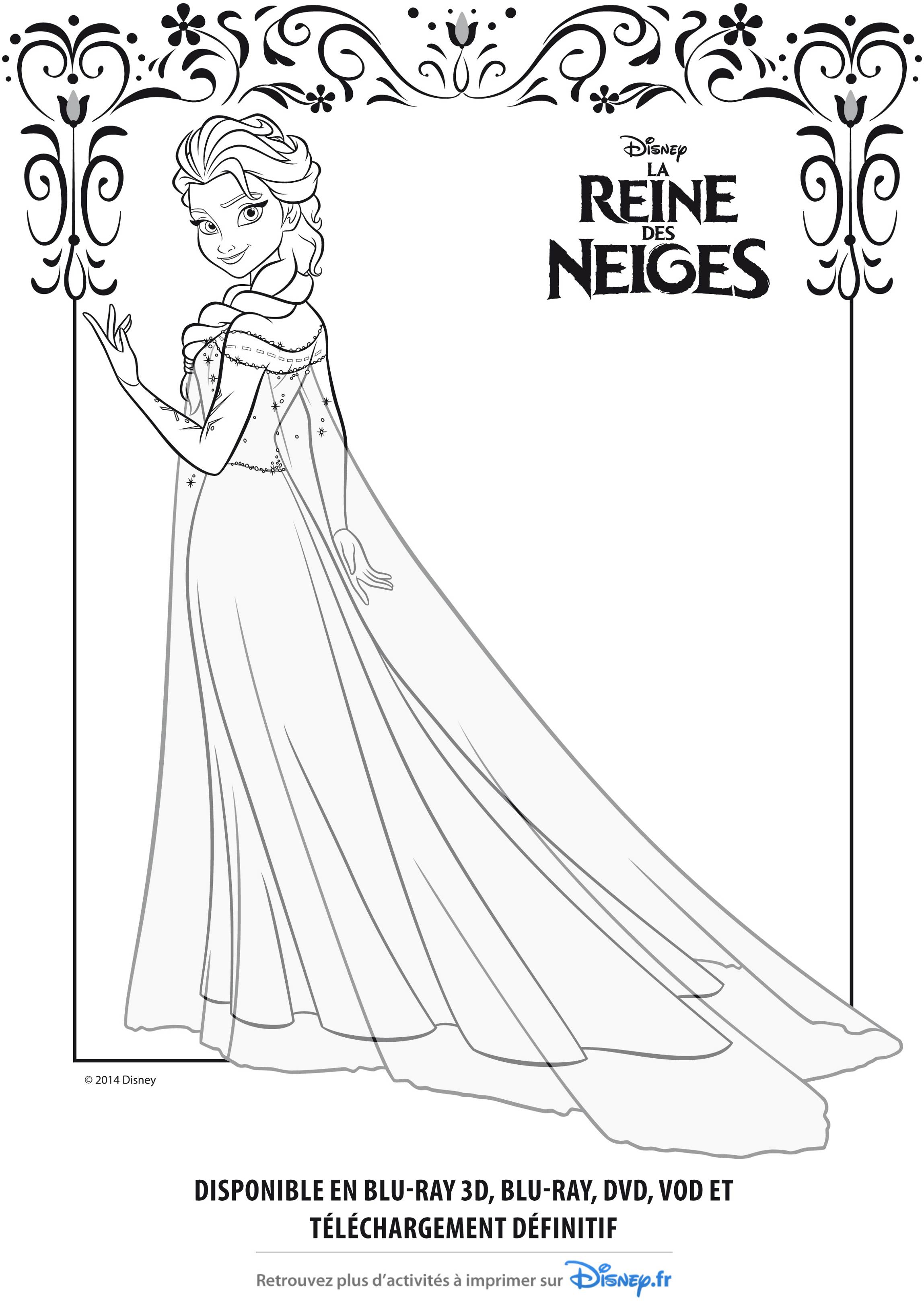 Image De Elsa La Reine Des Neiges A Telecharger Et Colorier