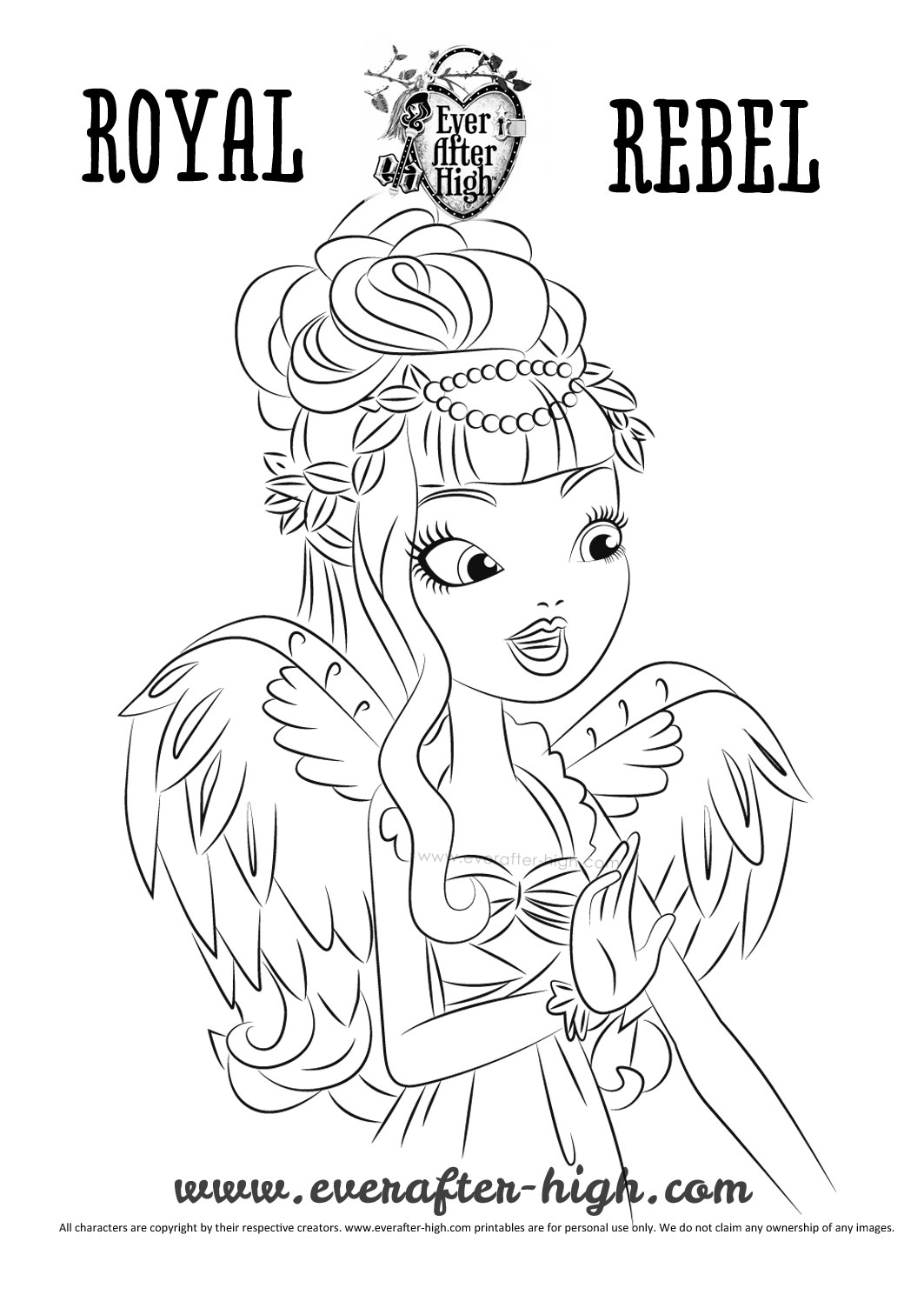 ever after high dragon coloring pages | Coloriage De Ever after High | Haut Coloriage HD-Images et ...