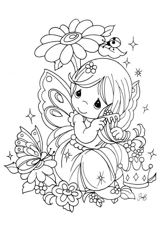 Une jolie petite Fée tirée de s illustrations 'Moments précieux'