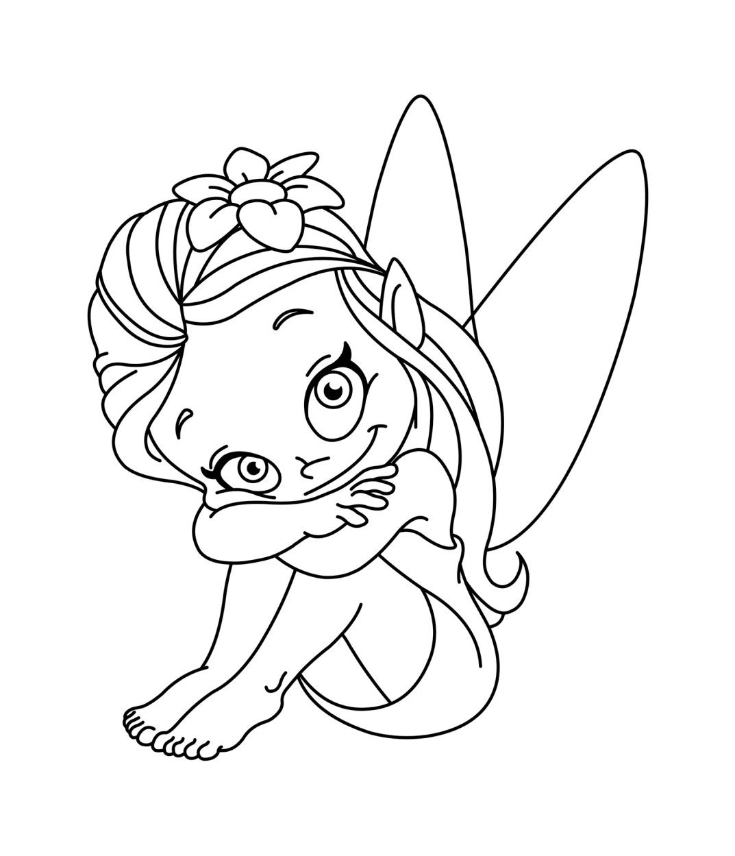 Petite fee coloriage de f es coloriages pour enfants - Dessin de fee ...