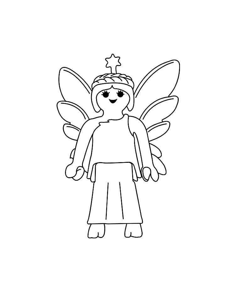 Une Fée Playmobil à colorier !