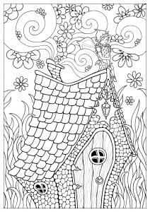 Dessin de Fées gratuit à imprimer et colorier