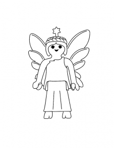coloriage-playmobil-fee-ailes free to print