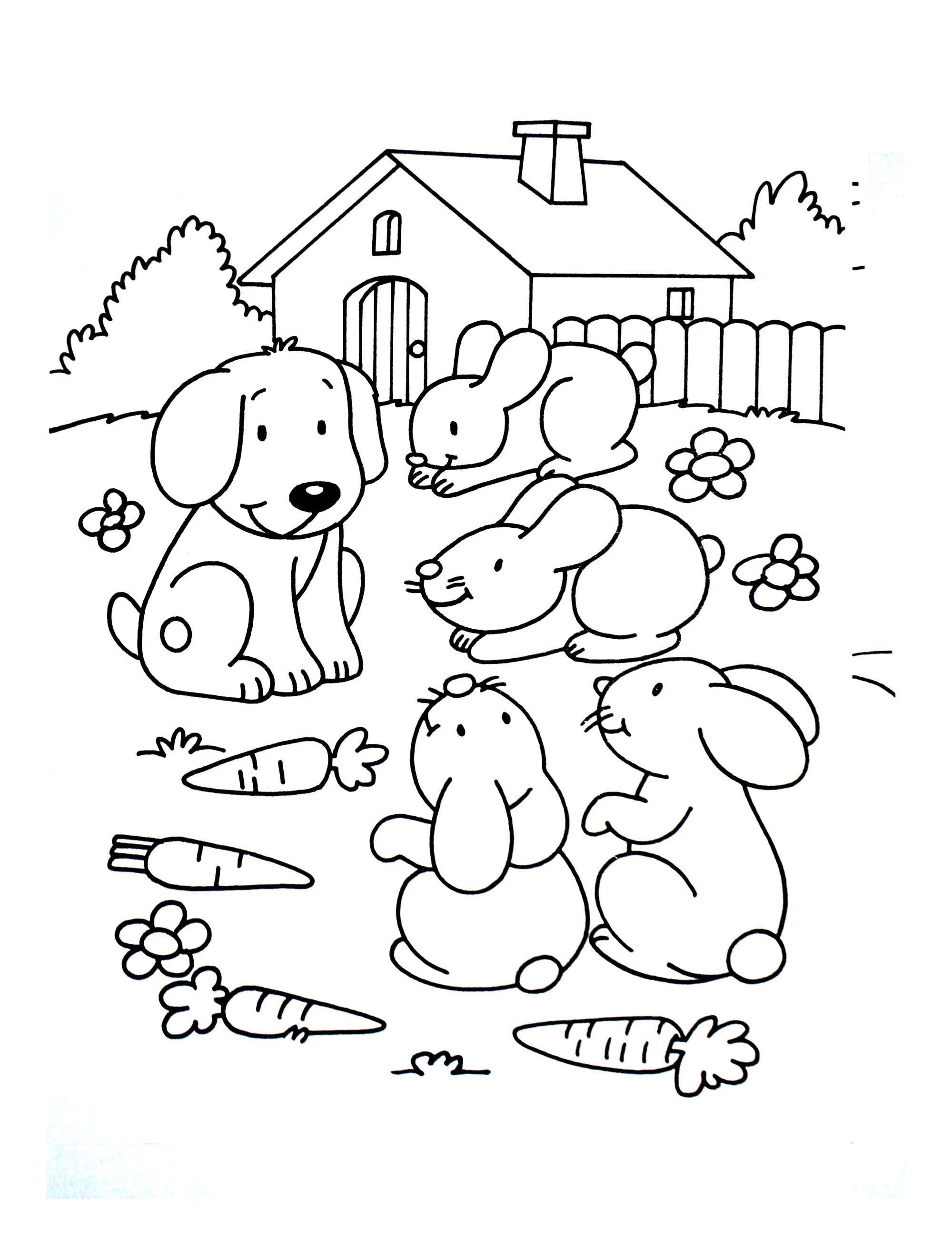A imprimer chats 3 coloriage sur la ferme tracteurs fermier animaux coloriages pour - Dessin de ferme ...