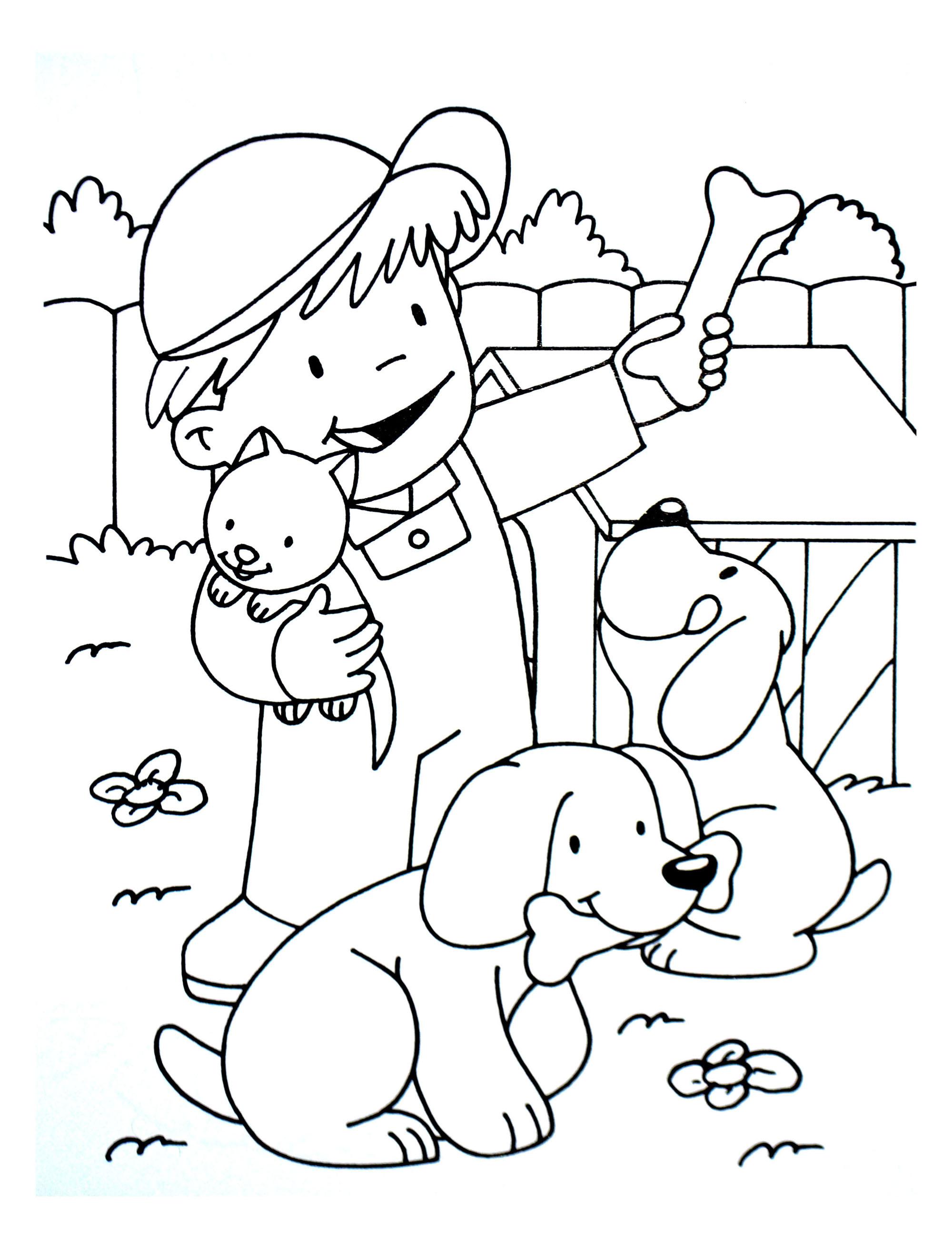 A imprimer chats 8 coloriage sur la ferme tracteurs fermier animaux coloriages pour - Coloriage de fermier ...