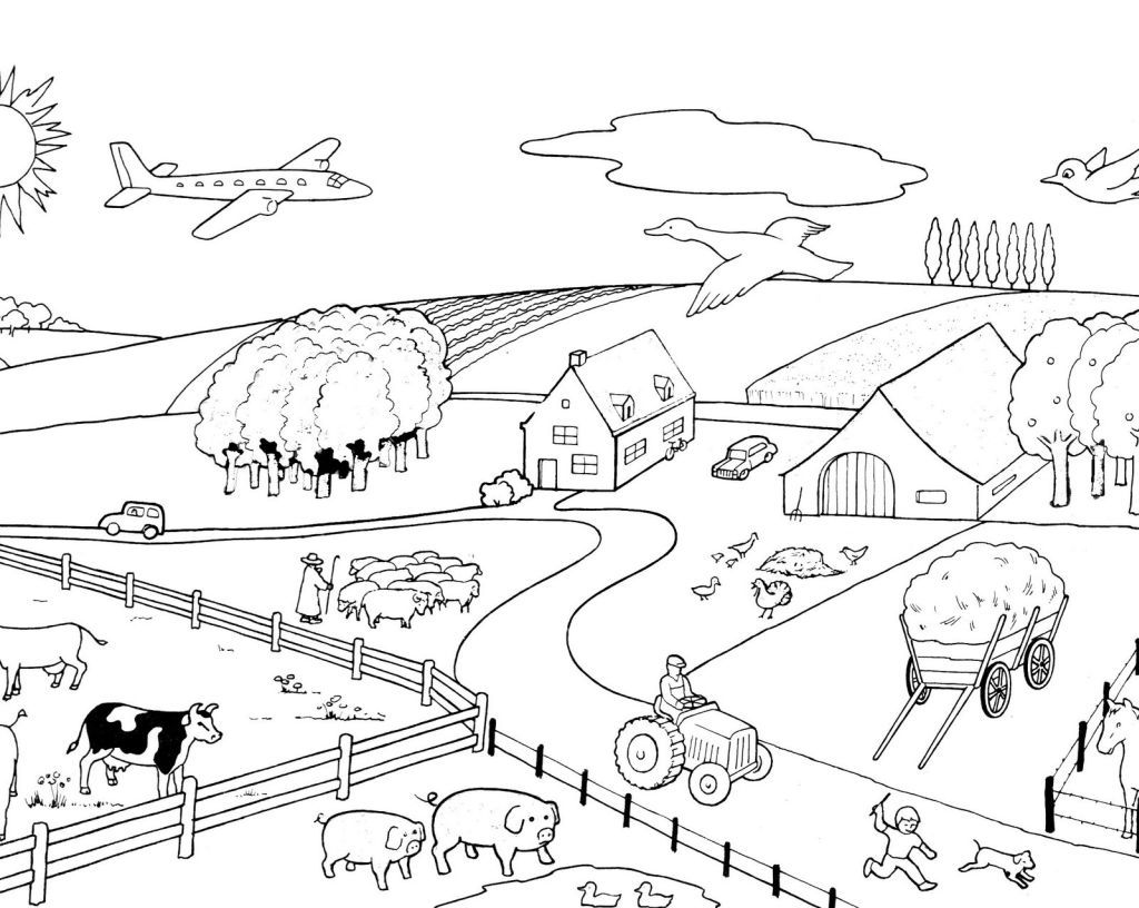 coloriage ferme 5 free to print