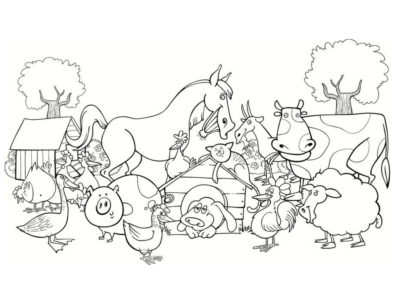 Image d'animaux de la ferme à imprimer et colorierA partir de la galerie : Ferme