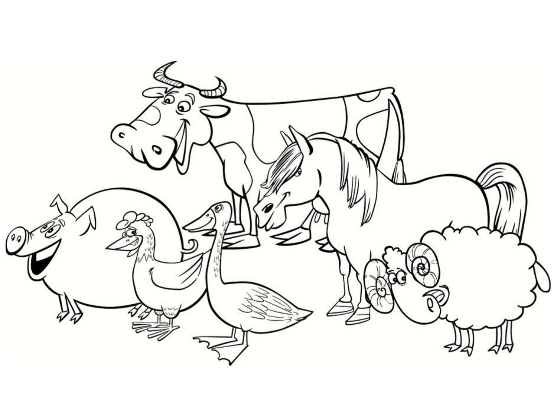 Coloriage d'animaux de la fermeA partir de la galerie : Ferme