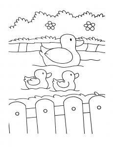 Coloriage de Ferme à colorier pour enfants