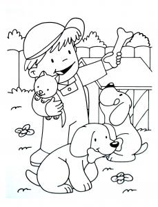 Coloriage de Ferme à imprimer pour enfants
