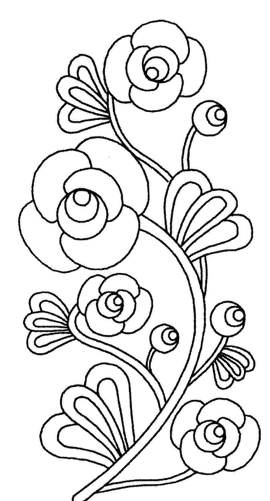 Dessin de fleurs à imprimer et colorier
