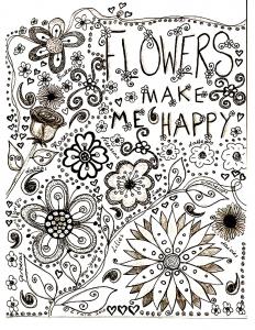 coloriage-adulte-dessin-fleurs free to print