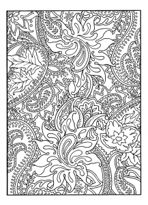 coloriage-adulte-jolis-motifs-vegetaux free to print