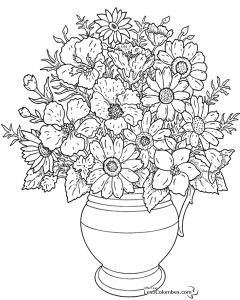 coloriage-fleurs-1 free to print