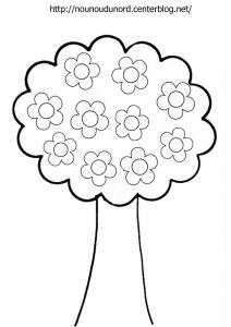 Coloriage de Fleurs à imprimer
