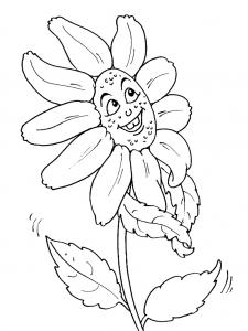 Coloriage de Fleurs pour enfants