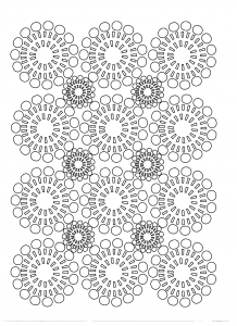 Coloriage fleurs cercles