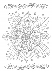 Fleurs avec motifs simples