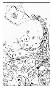 Fleurs et vegatation arrosoir magique