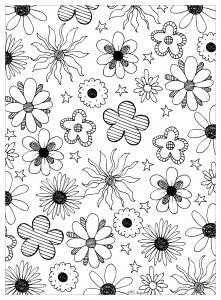 Coloriage fleurs mpc design