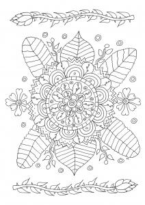 Coloriage fleurs simples