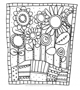 Simples fleurs à imprimer et colorier