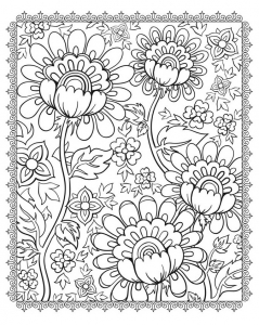 coloriage-superbes-fleurs free to print