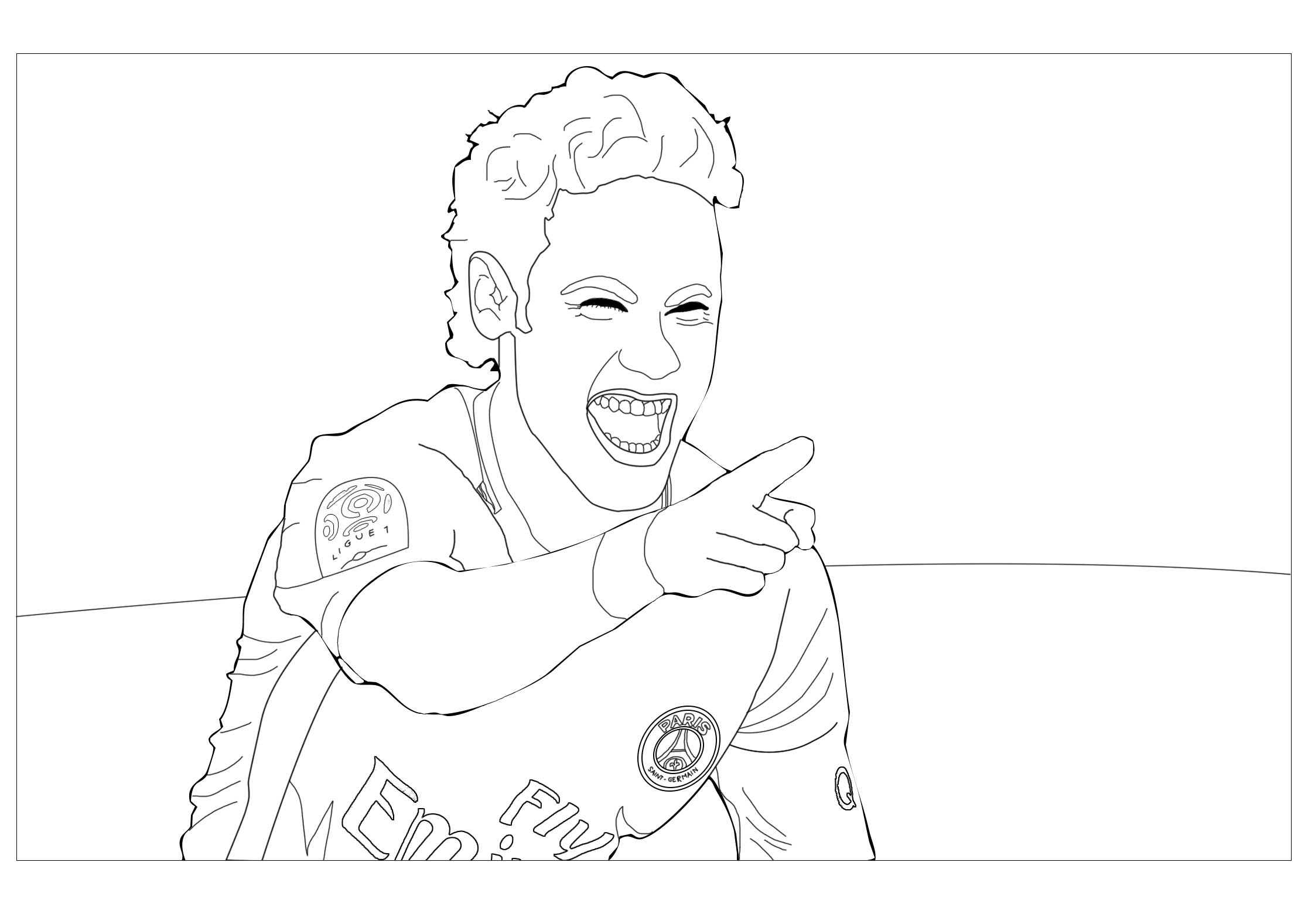 Neymar Jr 2 Coloriage Football Coloriages Pour Enfants