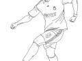 Coloriage de Football à imprimer gratuitement