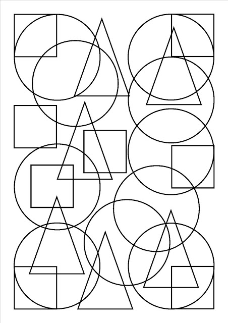 Des formes mélangées, entremêlées, qu'il vous faut colorier