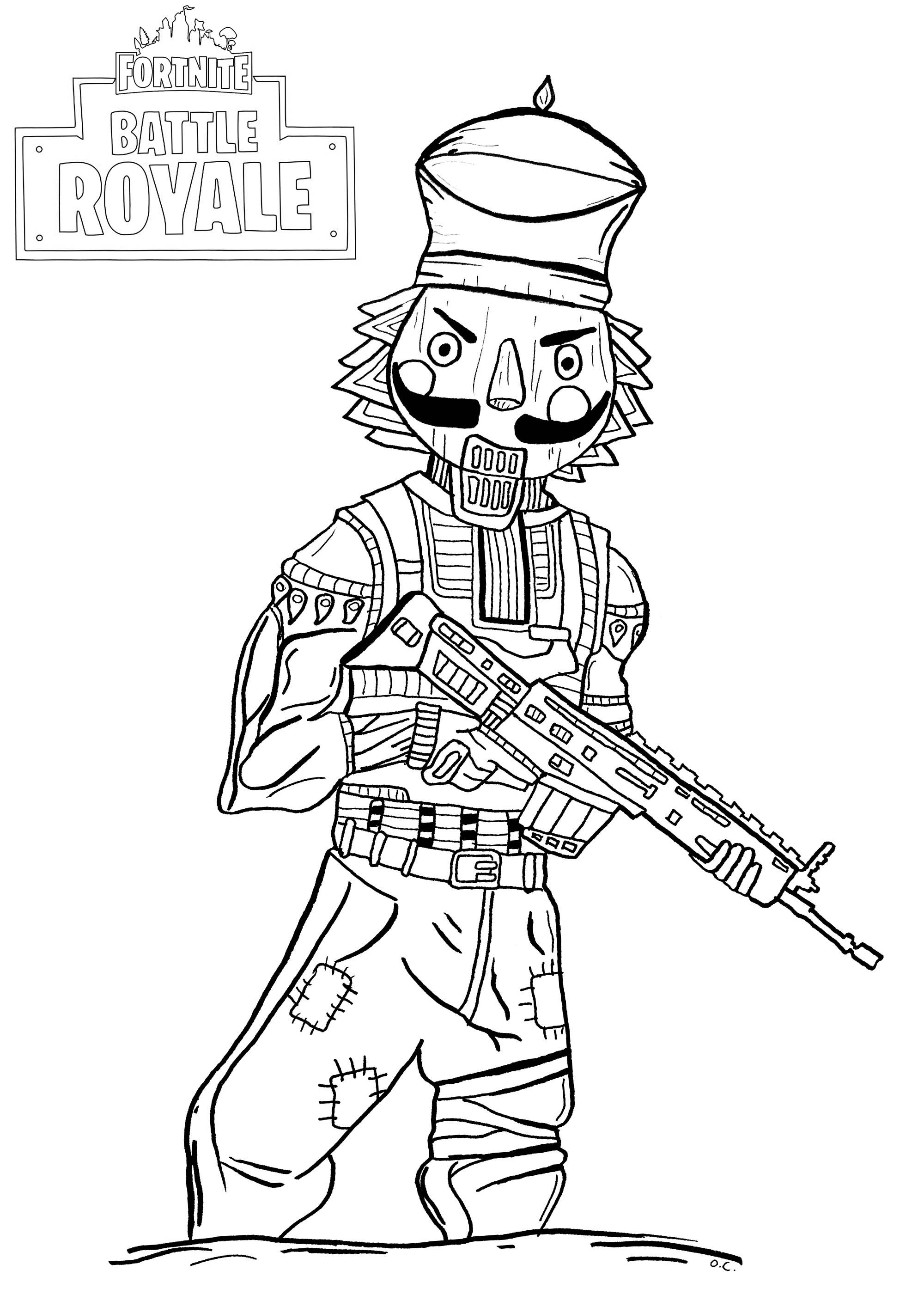 Fortnite Battle Royale Crackshot Coloriage Fortnite Battle