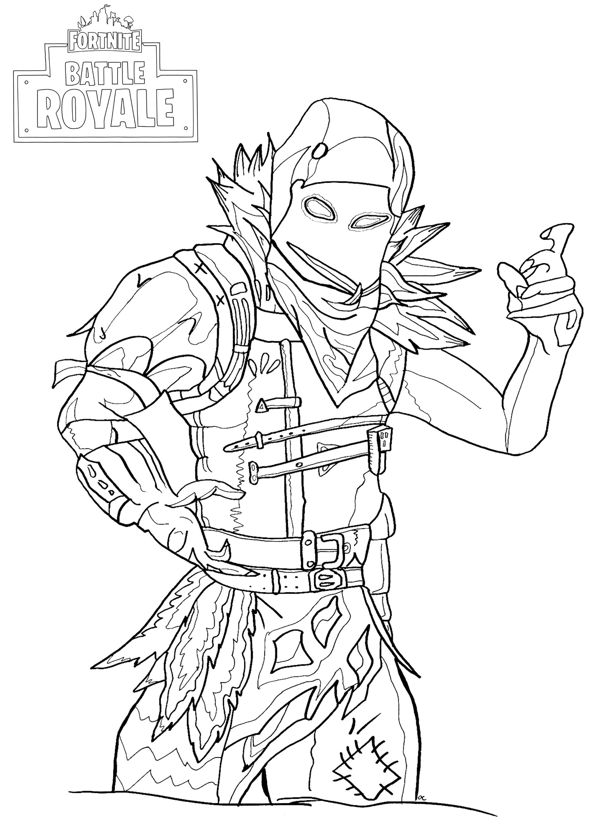 Coloriage A Imprimer Gratuit Fortnite.Fortnite Battle Royale Raven Coloriage Fortnite Battle