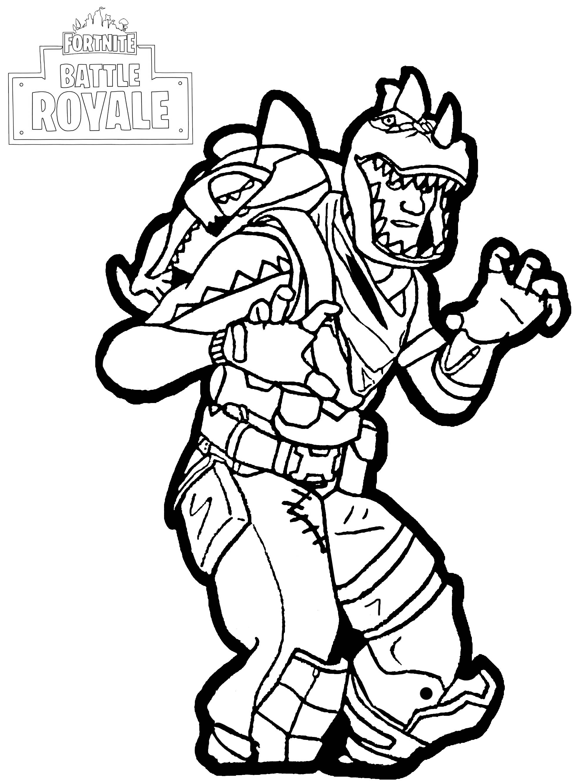 Fortnite Battle Royale Rex Coloriage Fortnite Battle