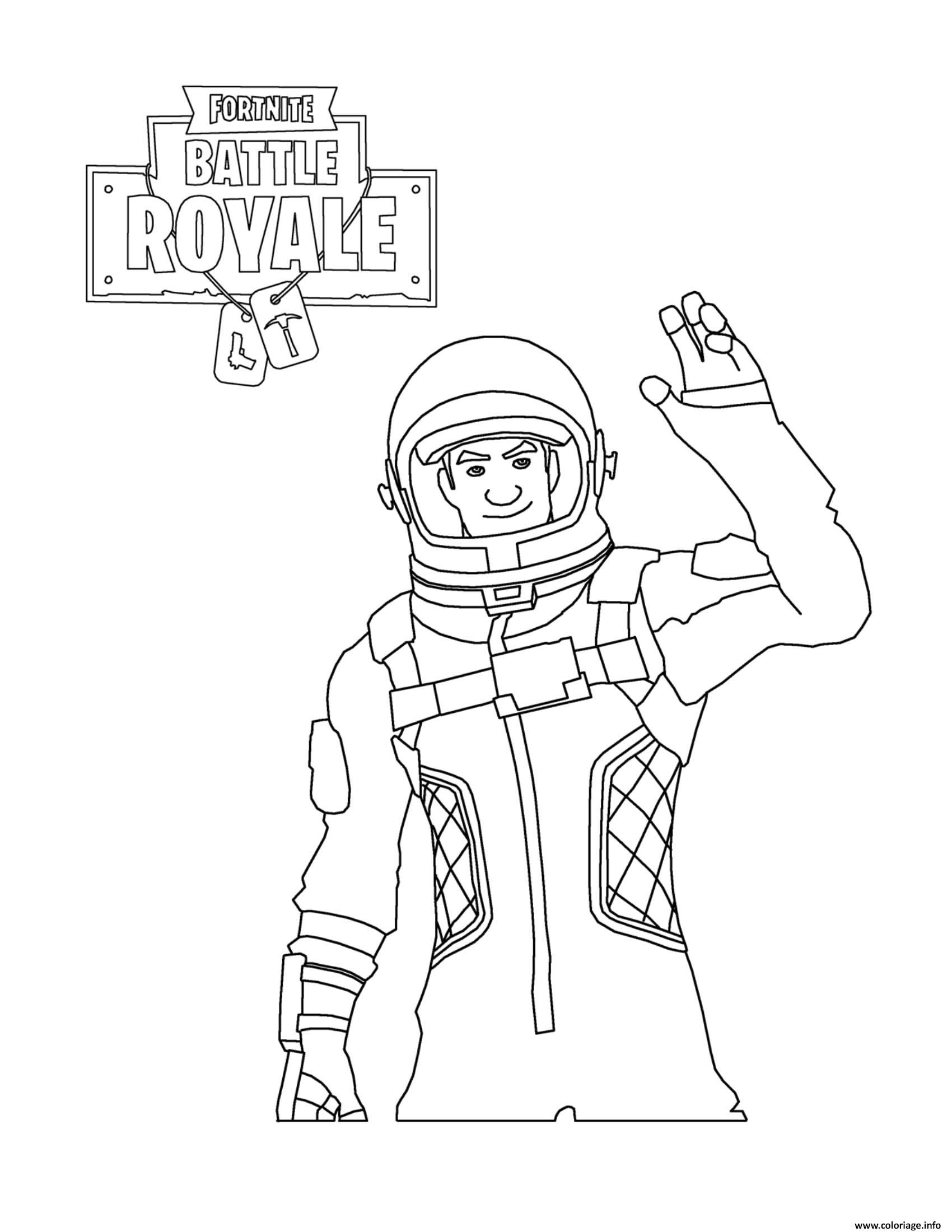 - coloriage fortnite battle royale