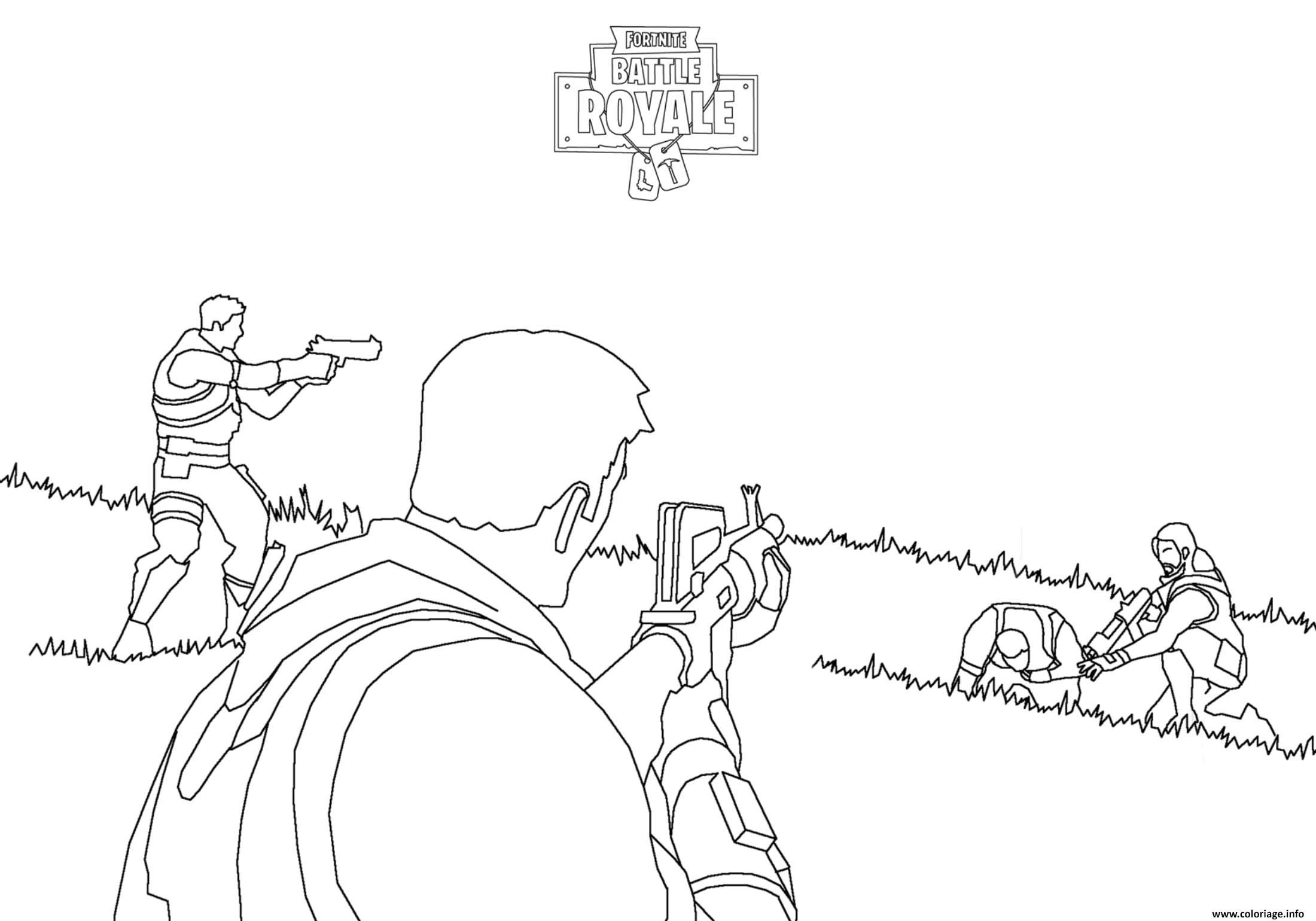 Fortnite Battle Royale Combat Coloriage Fortnite Battle