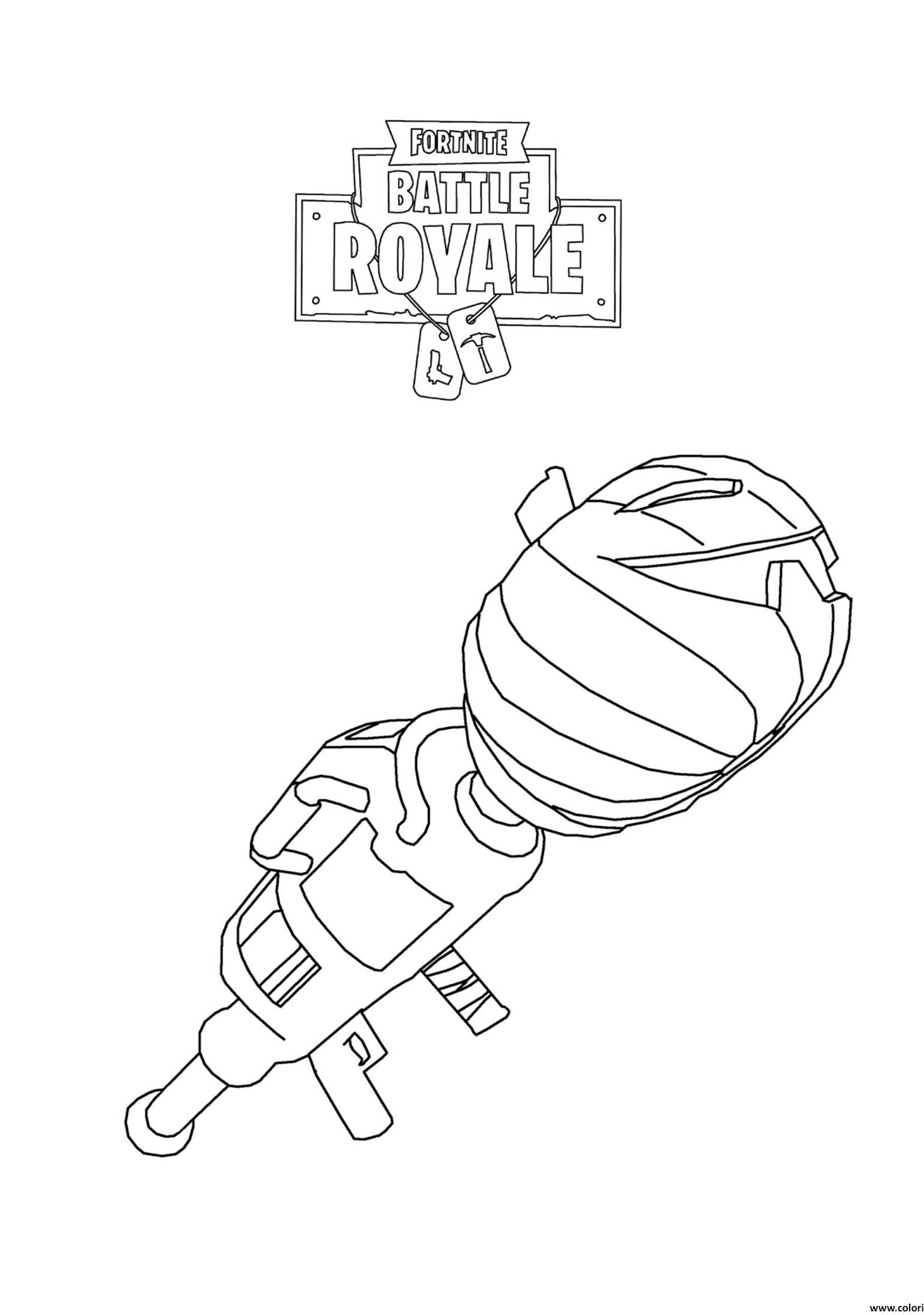 Fortnite Battle Royale Lance Roquettes Coloriage