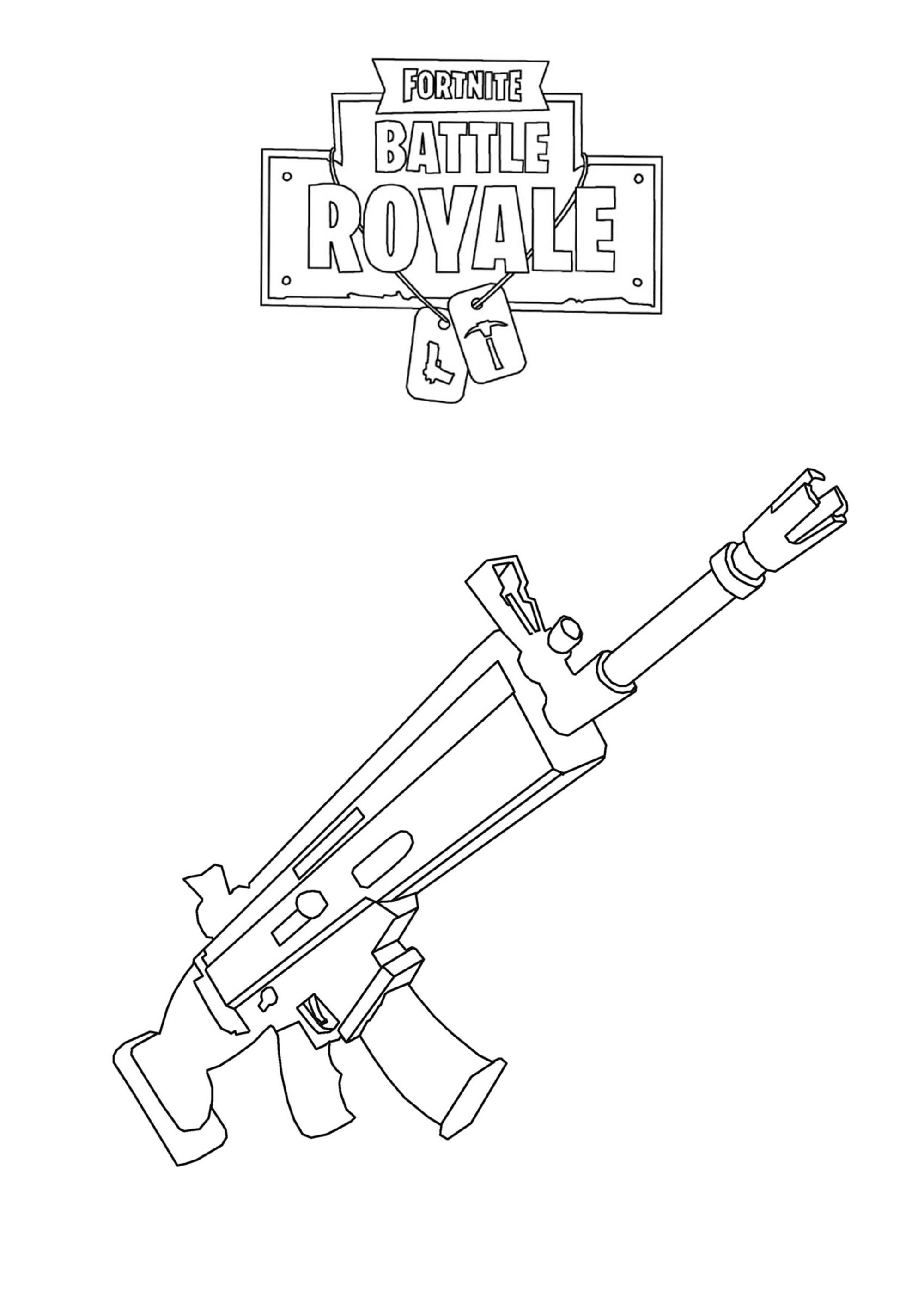 Fortnite Battle Royale Arme d 39 assaut Coloriage
