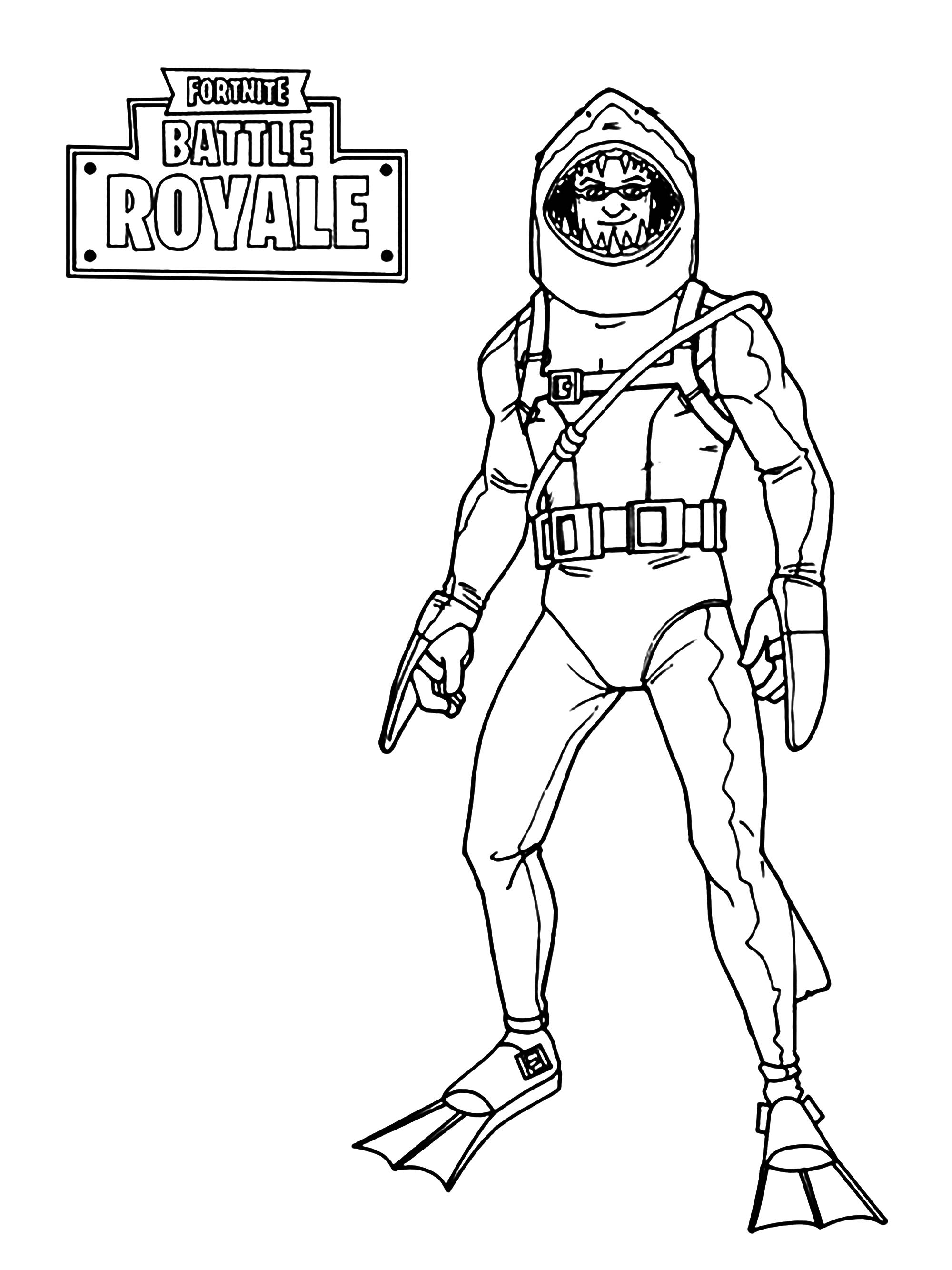 Fortnite Battle Royale Aquatic skin Coloriage Fortnite