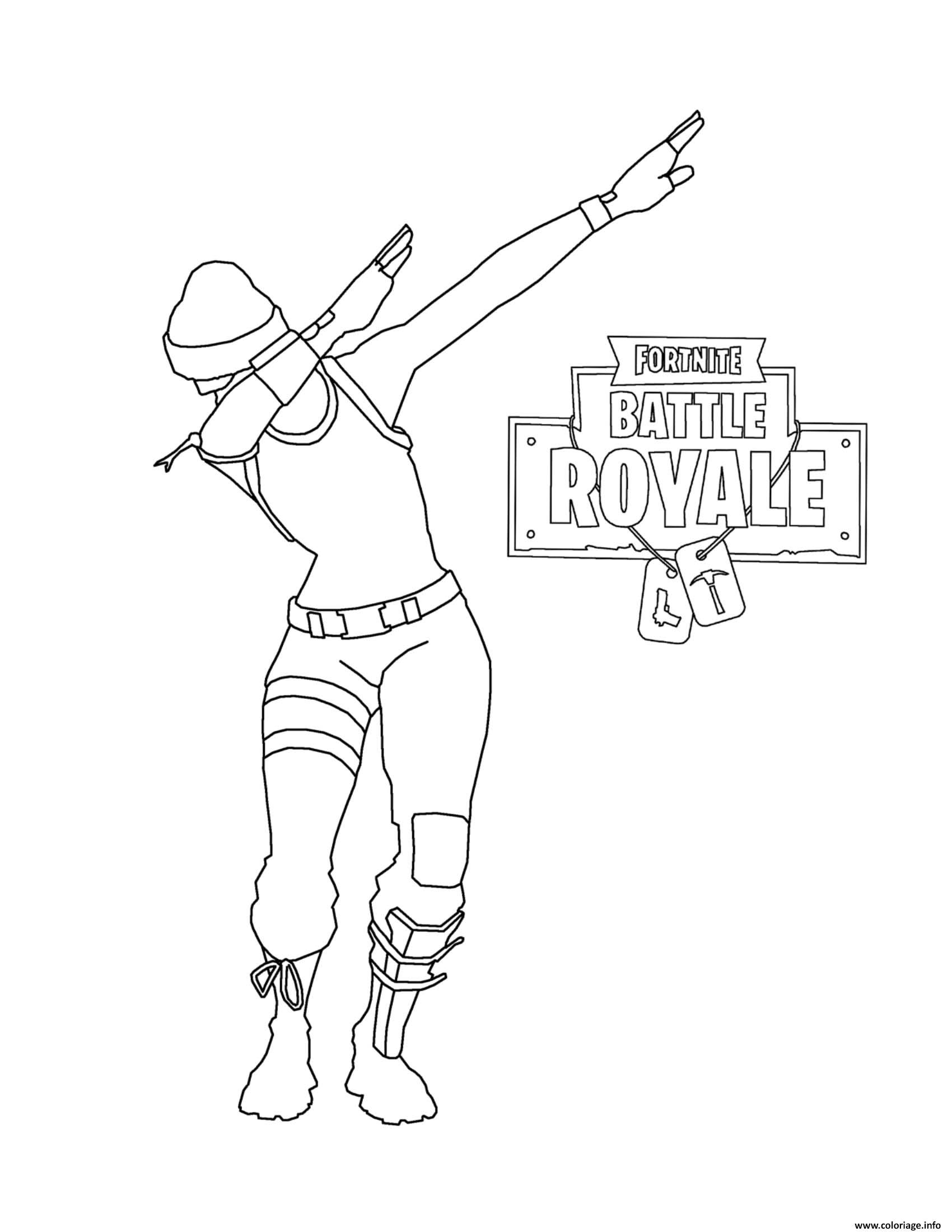Fortnite Battle Royale Dab Coloriage Fortnite Battle Royale