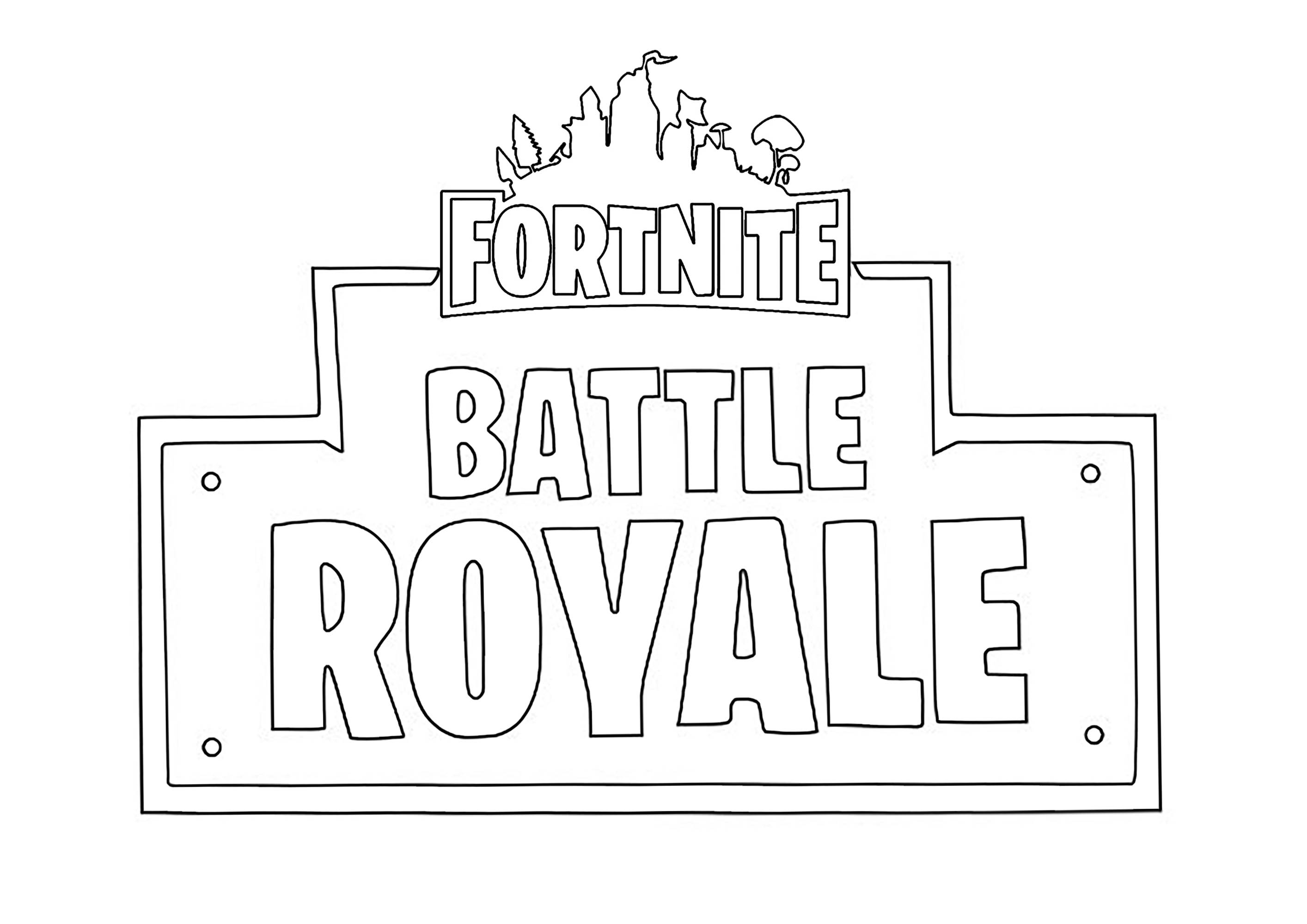 Logo Fortnite Battle Royale Coloriage Fortnite Battle Royale