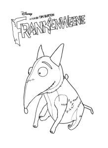 Coloriage frankenweenie 13
