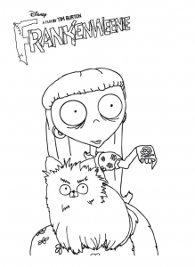 Coloriage de Frankenweenie à telecharger gratuitement